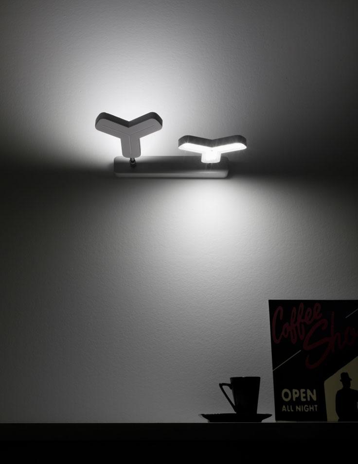 Lampada parete a led   newmox a 2 luci