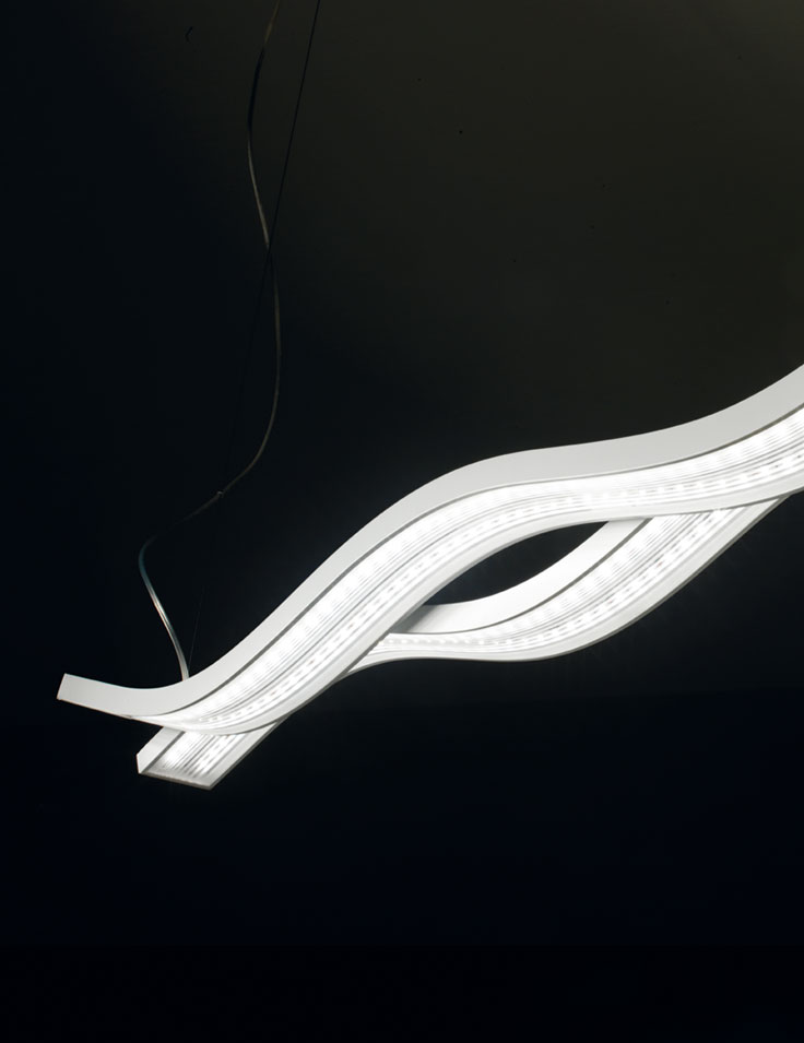 lampadari micron : Lampadario LED a sospensione Swing a 2 luci
