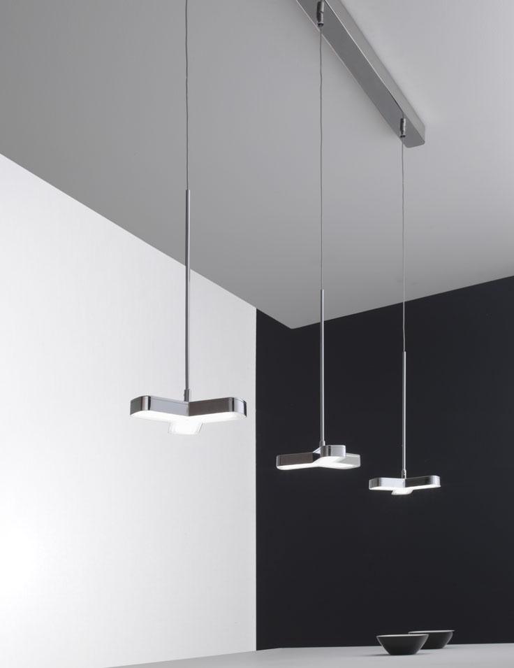 lampadari micron : Lampadario sospensione a led 3 luci - NewMox