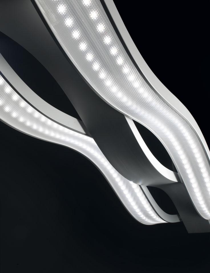 lampadari micron : Lampadario LED a sospensione Swing a 3 luci