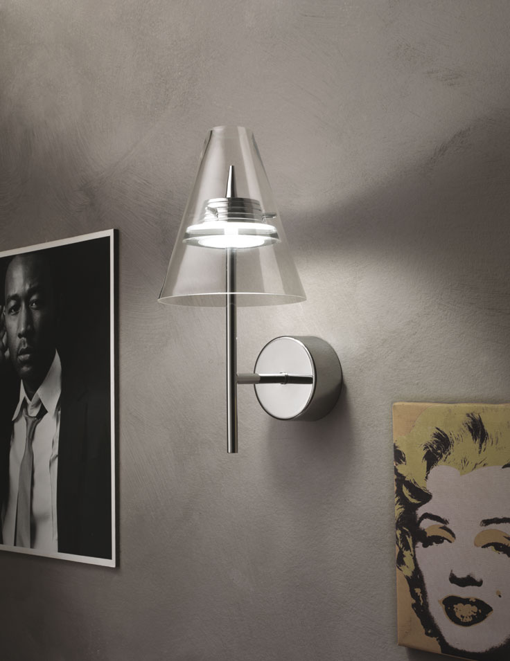 Lampada da parete capri illuminazione led - Lampade design parete ...