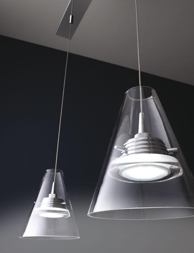 Lampadario sospensione led a 3 luci - Design Capri