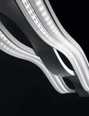 lampadario a led : Lampadario LED a sospensione Swing a 3 luci