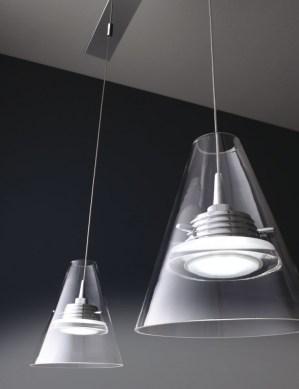 lampadari micron : Lampadario sospensione led a 3 luci - Design Capri