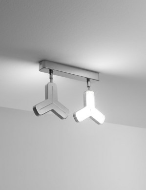 2 lights LED ceiling lamp
